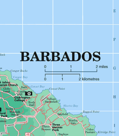 Large Map of Barbados